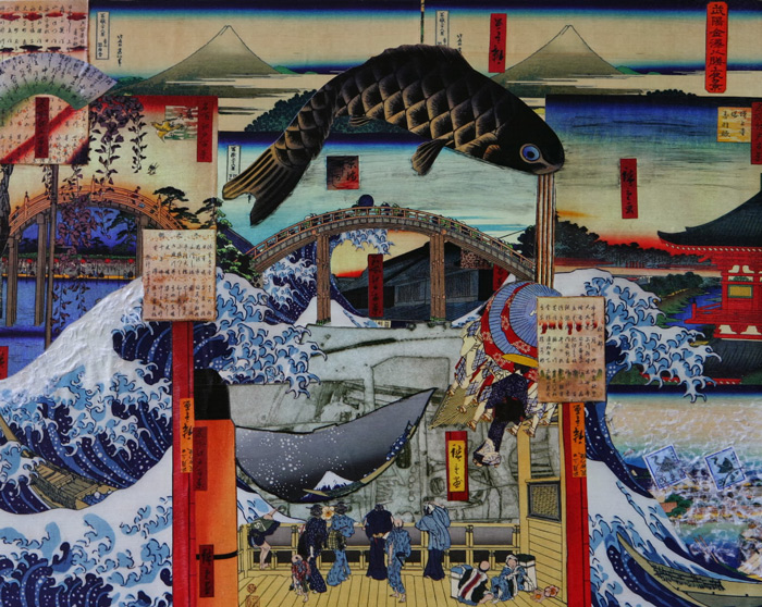 Hokusai, Hiroshige and Soichi Hasegawa--Study 3 by Jill Allyn Stafford