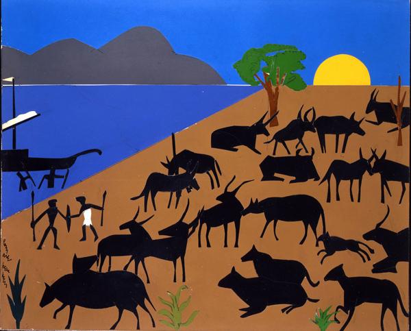 Cattle of the Sun God by Romare Bearden