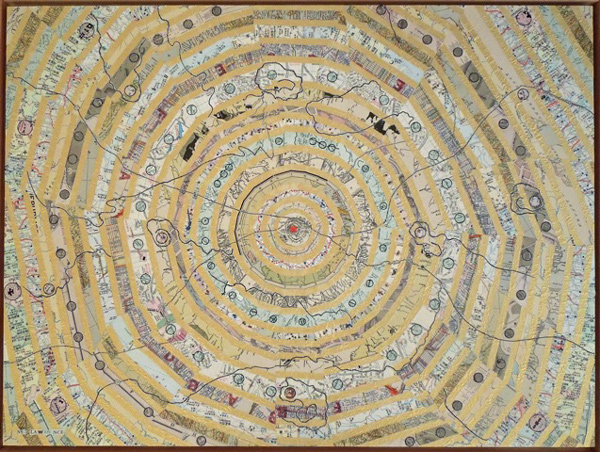 Concentric Narrative in Gold by Nancy Goodman Lawrence