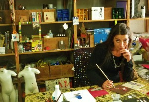 Carolina Chocron in her studio