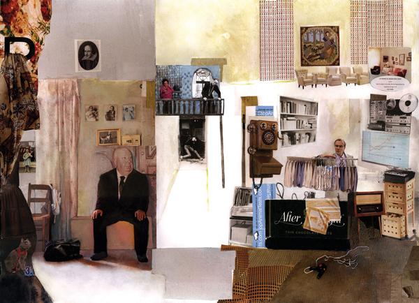 "Retirement by Sejma Prodanovic (31.5""x39.5""; collage and inkjet print on canvas; 2008)"