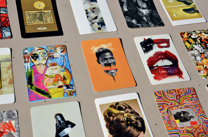 collage artist trading cards pack five kolaj magazine