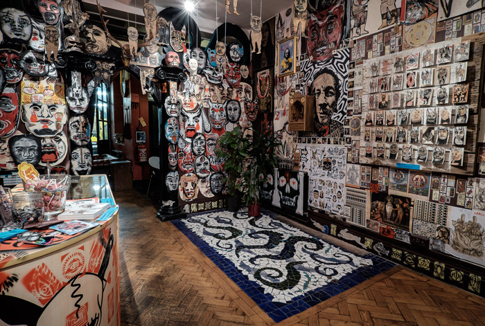 Jim sanders collage installation at iconic london tattoo for Tattoo shops in london