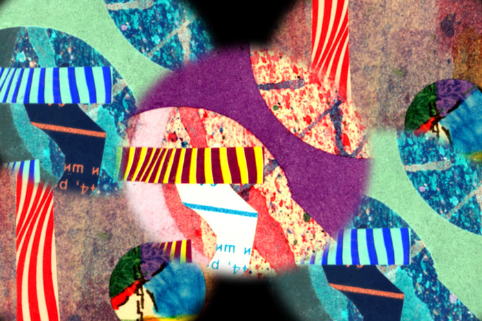 Locked in Motion Surreal Collage
