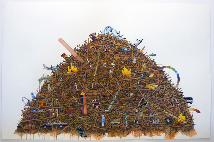 simon-hughes-enigma-of-the-woodpile-at-galerie-division